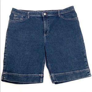 Eddie Bauer blue Denim shorts cotton spandex blend
